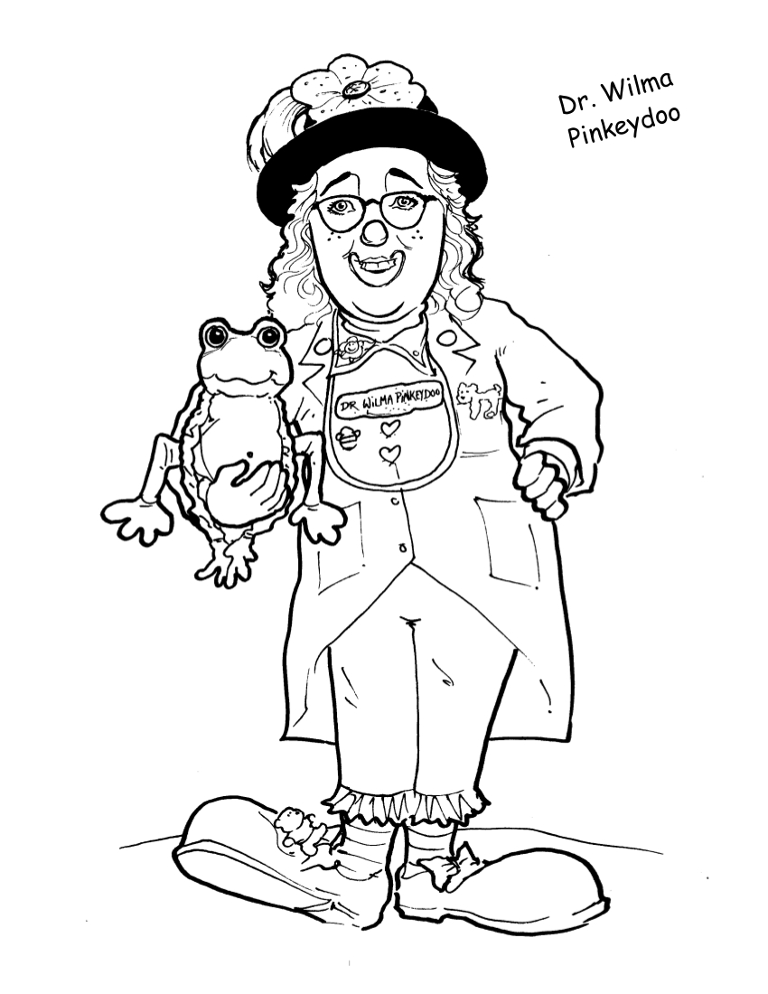 laughter therapy coloring pages clowns on rounds
