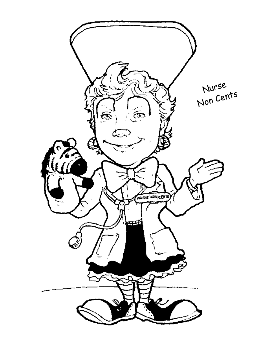 Nurse NonCents coloring page